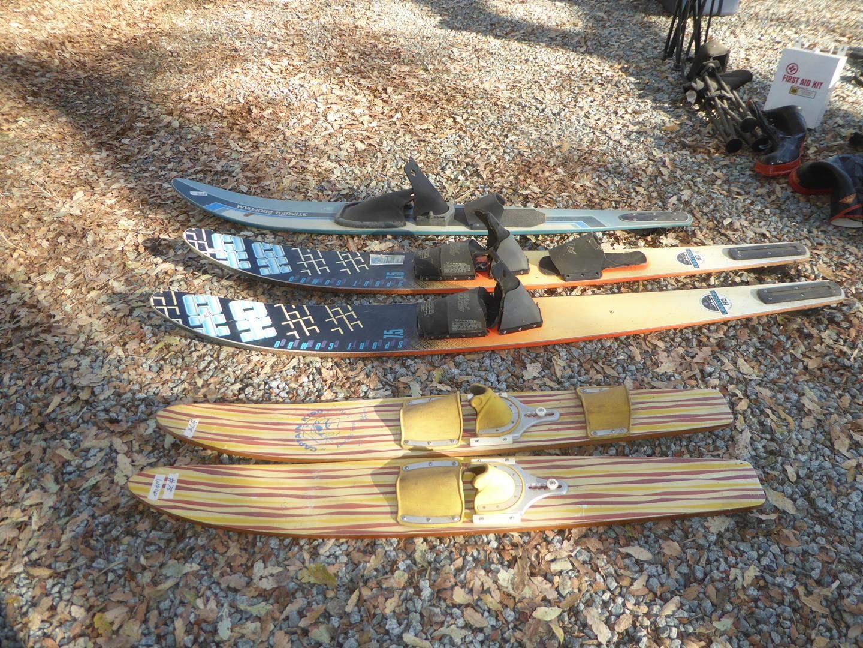 Lot # 78 - Captain Kidd Jr. Water Skis, Unitech Water Skis & Stinger ProFoam Ski (main image)