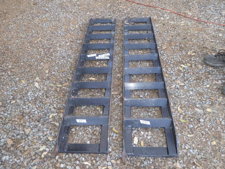 "Lot # 82 - Pair ¼"" Steel Loading Ramps (main image)"