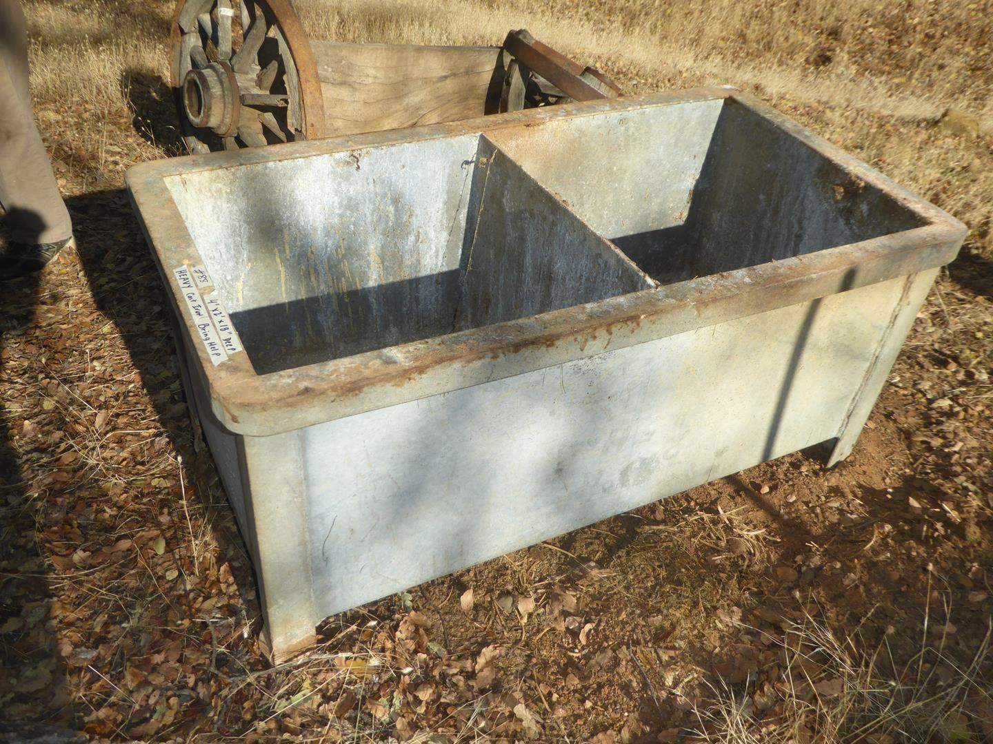Lot # 88 - Heavy Cast Iron Double Sink - Bring Help to Load (main image)