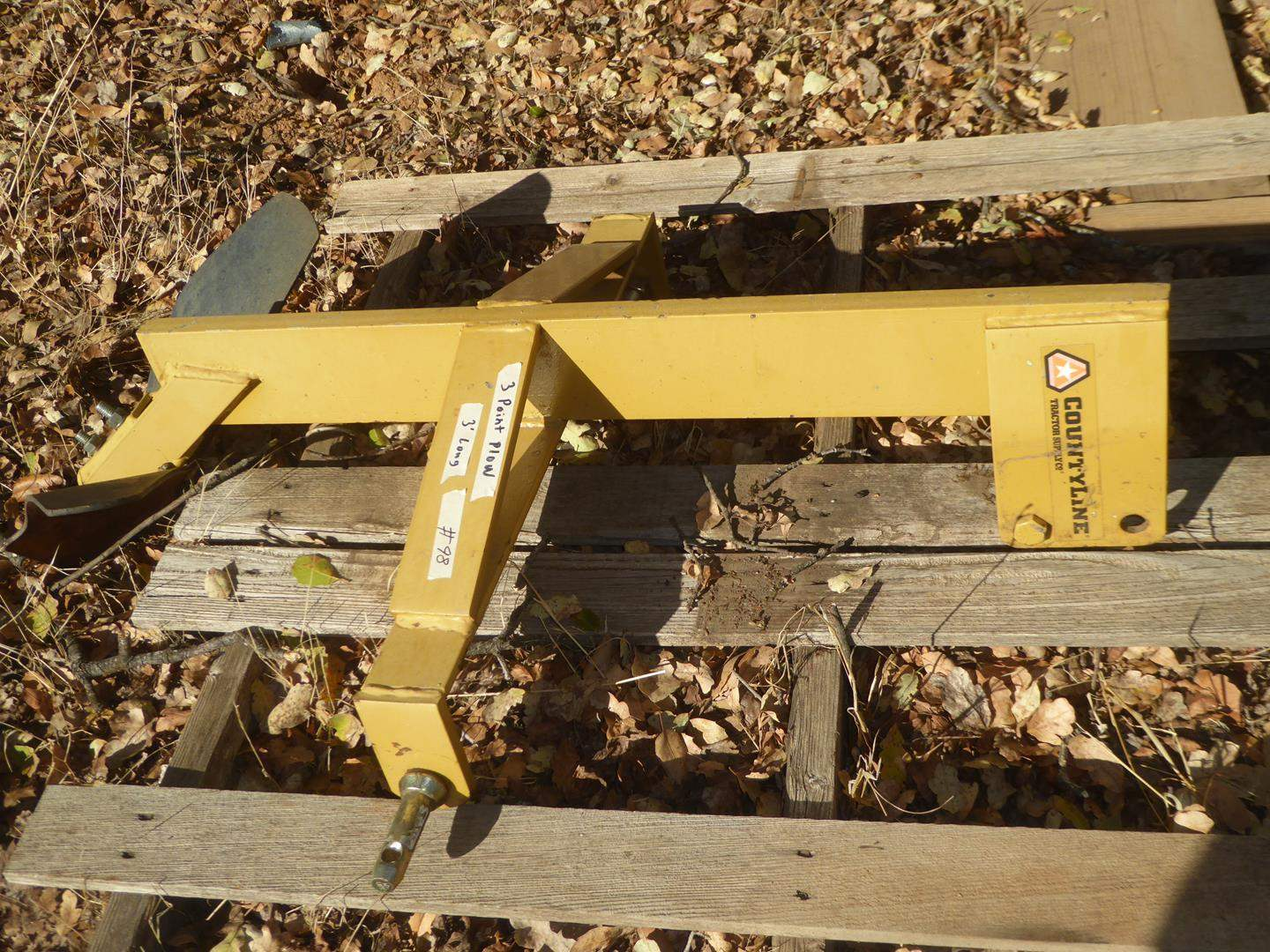 Lot # 98 - CountyLine Tractor Supply Co. 3 Point Plow (main image)