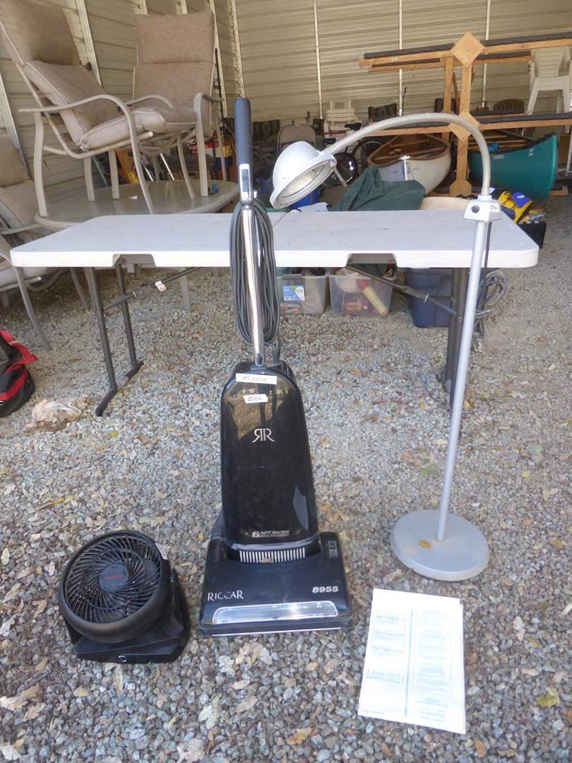 Lot # 106 - Fan, Riccar Vacuum & Floor Lamp (main image)