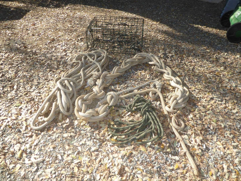 Lot # 107 - Boat Ropes & Crab Trap (main image)
