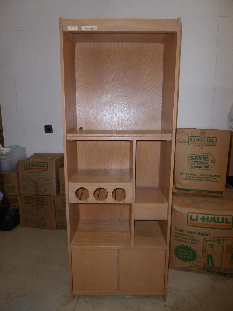Lot # 205 - Wooden Wine Cabinet (main image)