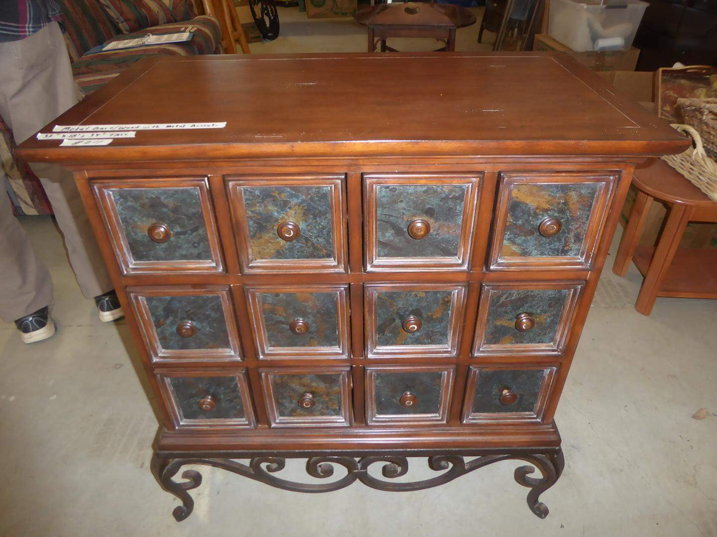 Lot # 211 - Apothecary Style 12 Drawer Cabinet (main image)