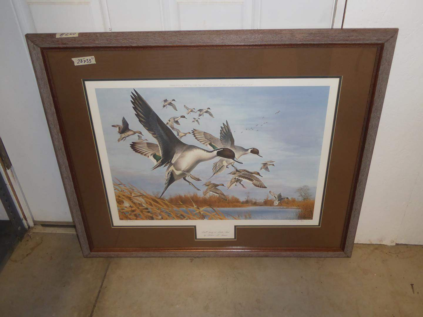 """Lot # 220 - Framed Signed Numbered Print """"Bull Spring at Butte Sink"""" by Robert M. Steiner 148/450 (main image)"""
