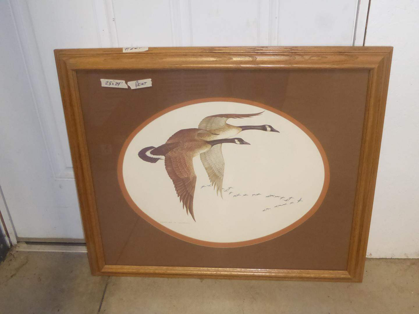 Lot # 224 - Framed Canada Goose Print by Charles E. Murphy (main image)