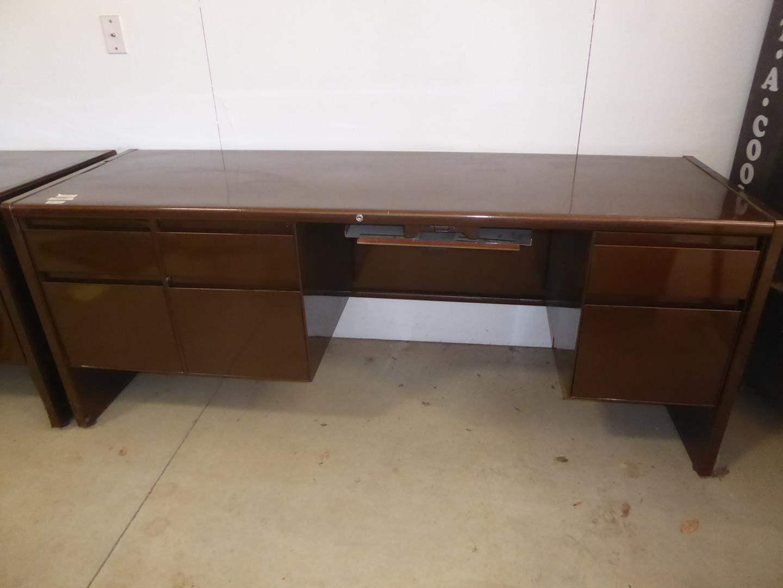 Lot # 230 - Brown Metal Desk  (main image)
