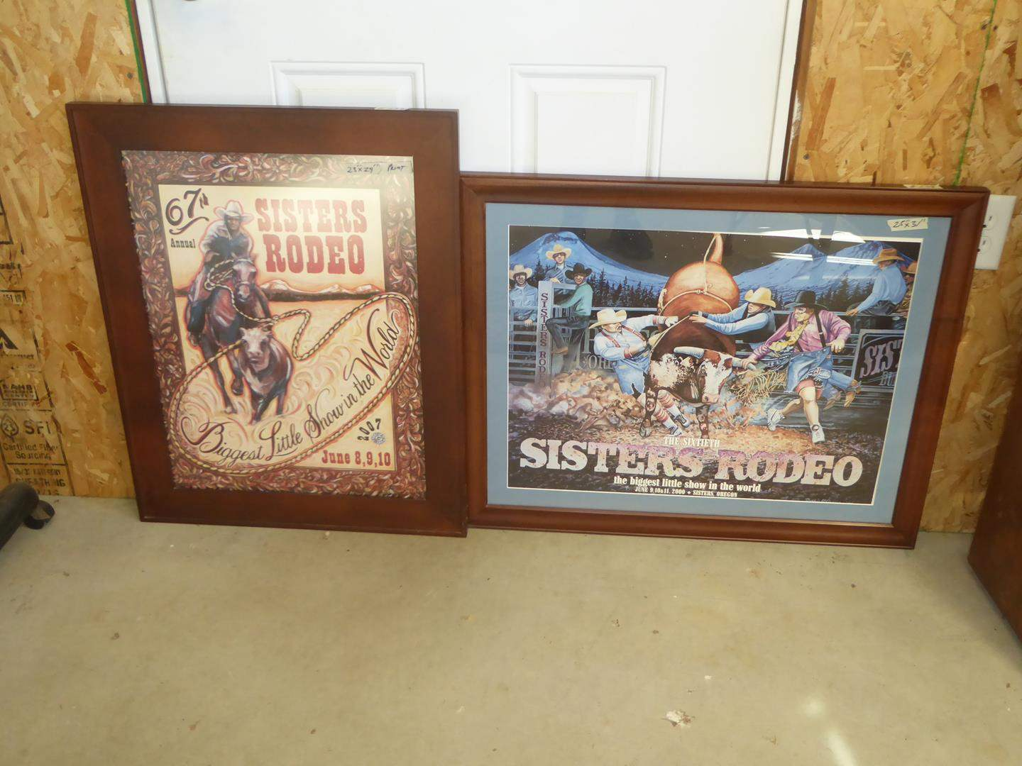 Lot # 238 - Two Framed Sisters Rodeo Prints (main image)