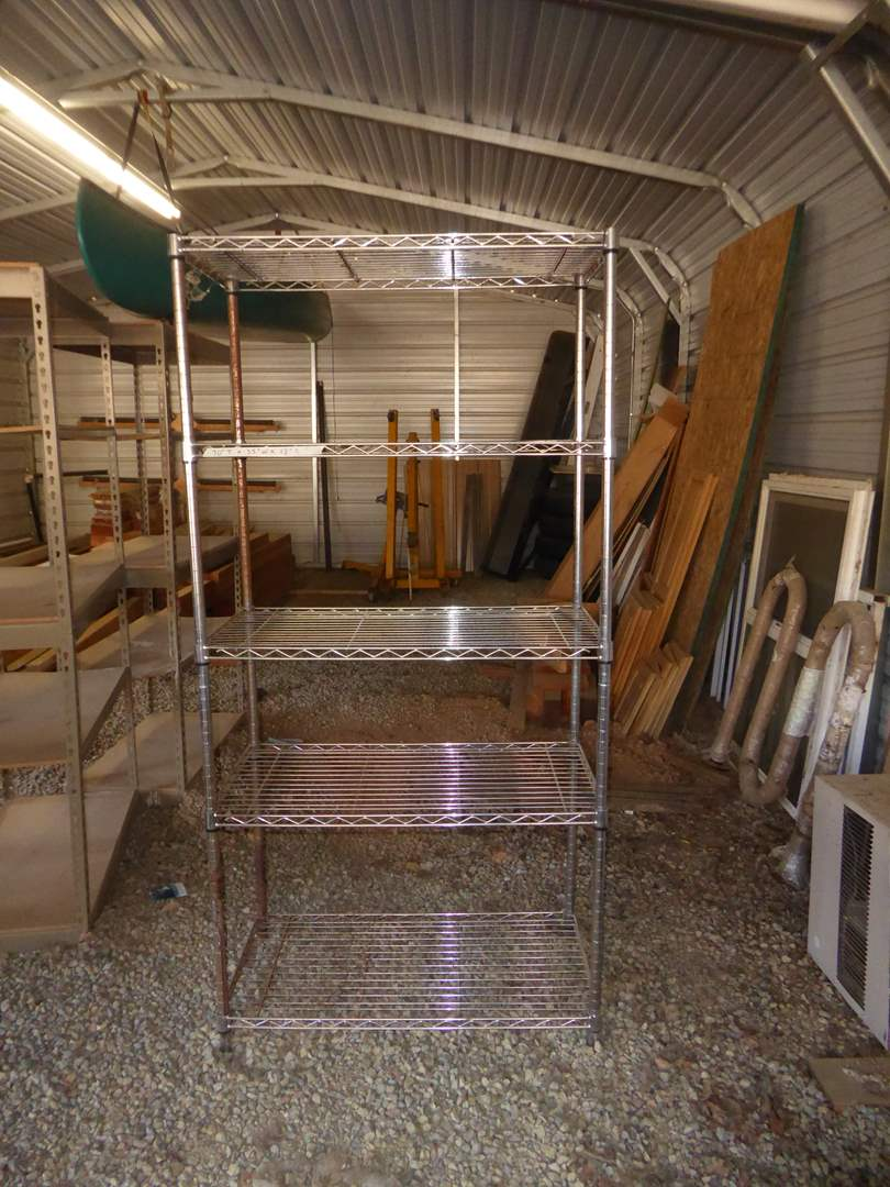 Lot # 5 - Five Tier Metal Shop Shelf  (main image)
