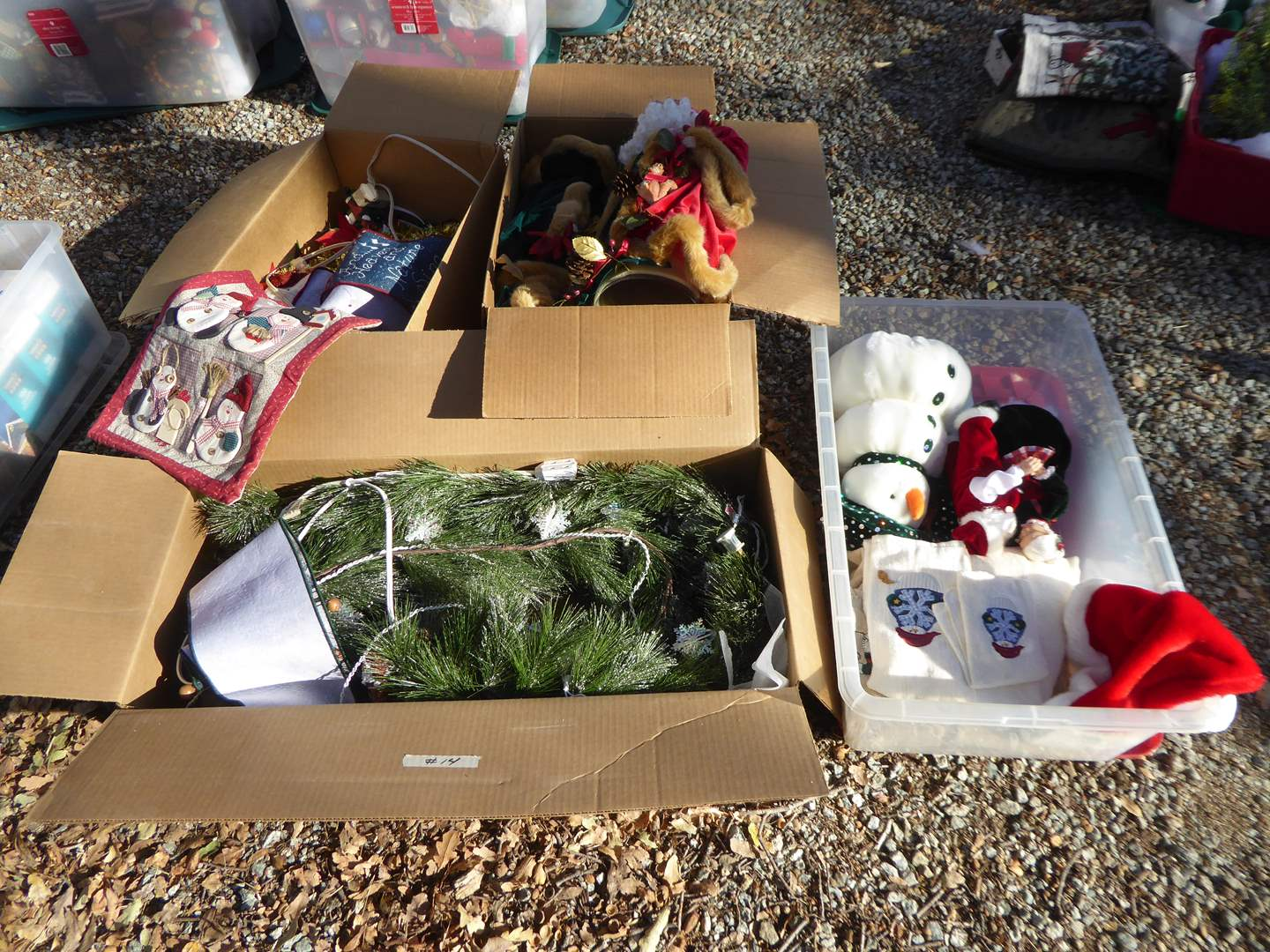 Lot # 14 - Christmas Decor - Branches, Figurines & More  (main image)