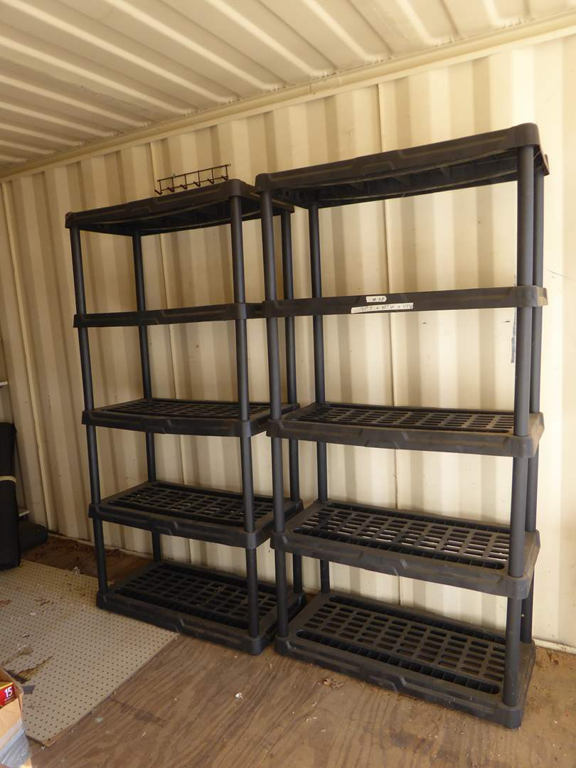 Lot # 38 - Two Plastic Storage Shelves  (main image)