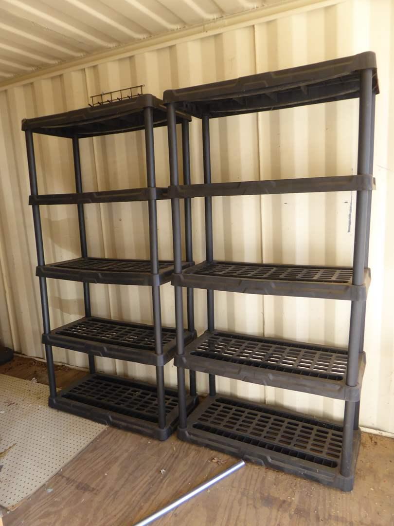 Lot # 39 - Two Plastic Storage Shelves  (main image)