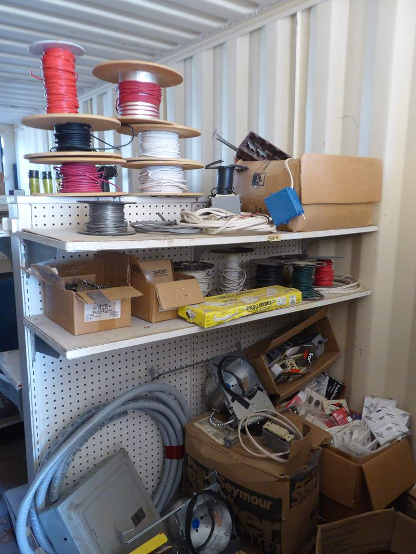 Lot # 42 - Large Electrical Supplies Lot (Shelf Not Included)  (main image)