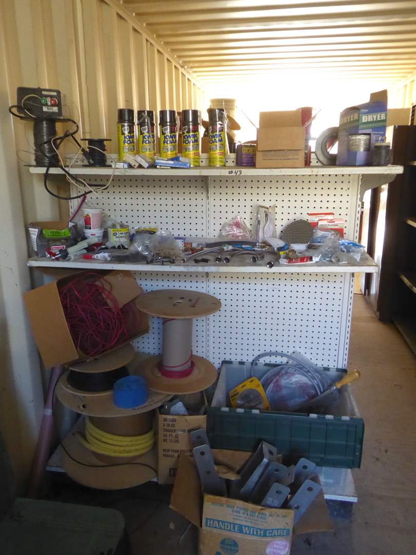 Lot # 43 - Miscellaneous Electrical & Fix It Supplies  (main image)
