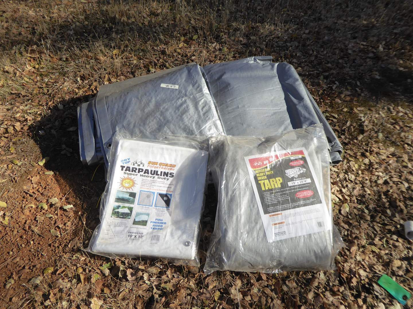 Lot # 47 - Large Tarps (Two Still In Package)  (main image)