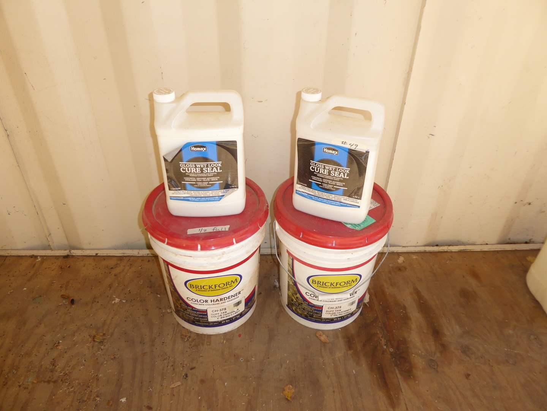Lot # 49 - Brickform Color Hardener & Home Max Cure Seal  (main image)