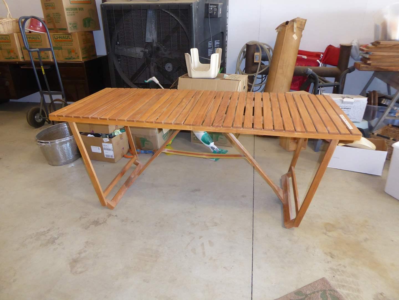 Lot # 257 - Teak Folding Table  (main image)