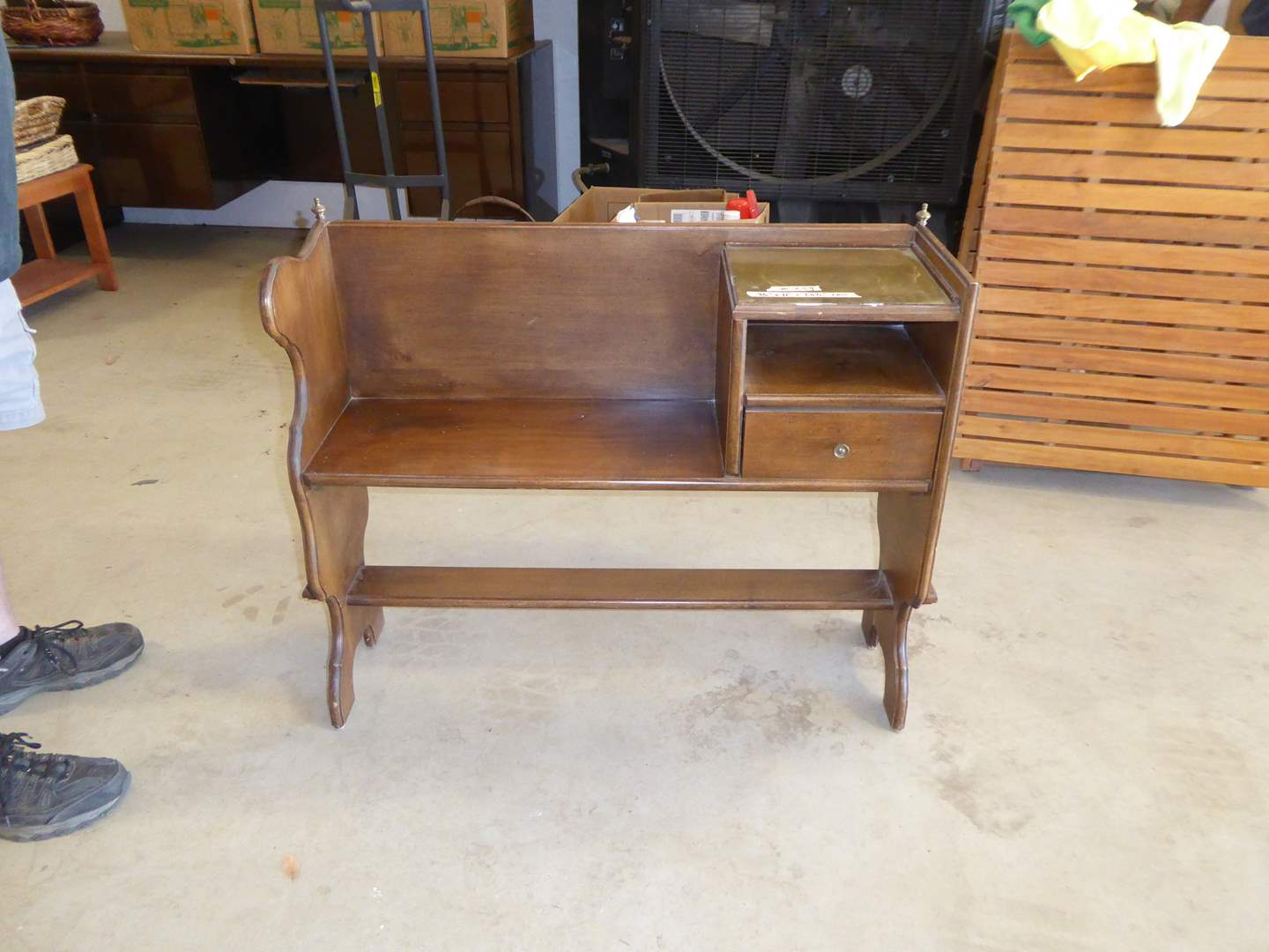 Lot # 259 - Cute Vintage Telephone Bench  (main image)