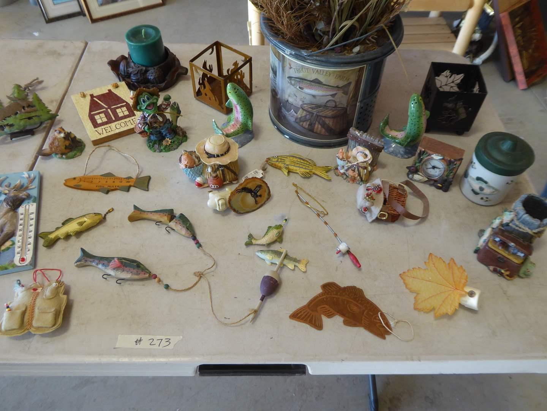Lot # 273 - Fishing Decor & Collectibles  (main image)