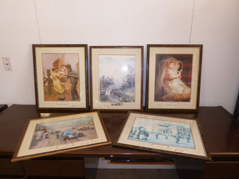 Lot # 277 - Five Framed Prints  (main image)