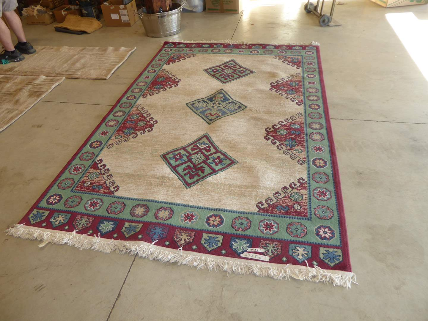 Lot # 284 - Cherokee Wine Area Rug  (main image)