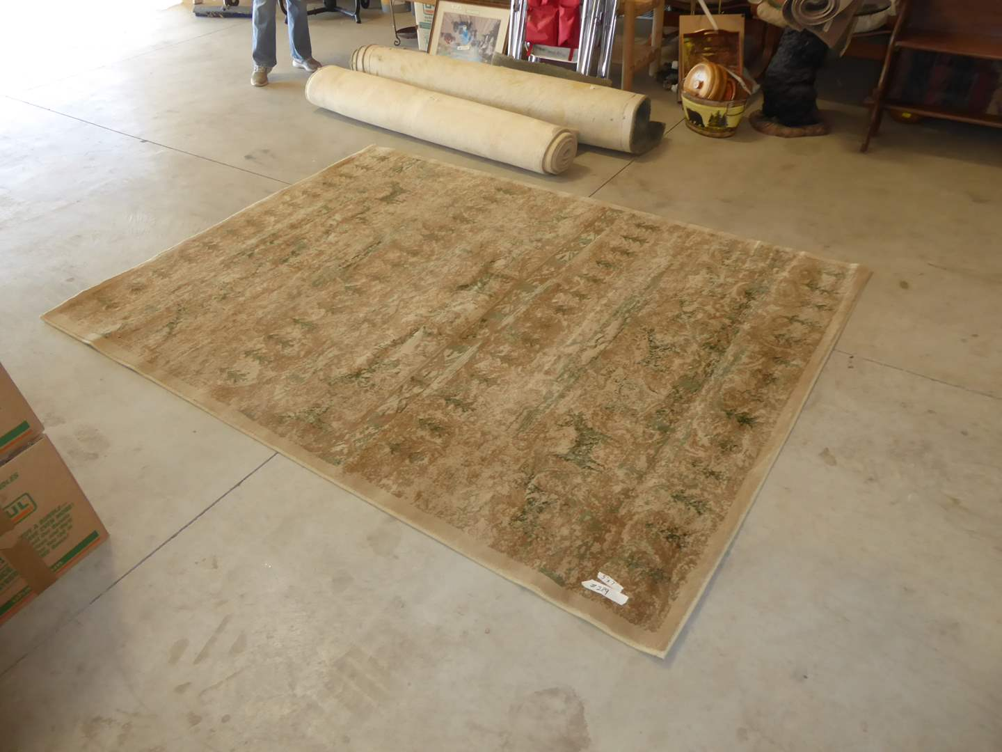 "Lot # 289 -  Large Oriental Weavers ""The Nile"" Area Rug (Animal Forest Gold) (main image)"