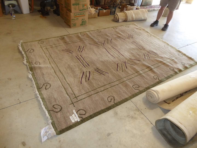 "Lot # 290 - Beautiful High Quality (Handspun Virgin Wool) Rug ""Swayambhu Carpet Industry"" (main image)"