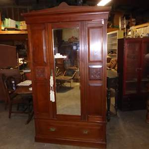 Auction Thumbnail for:  Lot # 41 - Beautiful Antique Wardrobe (3 Pieces)