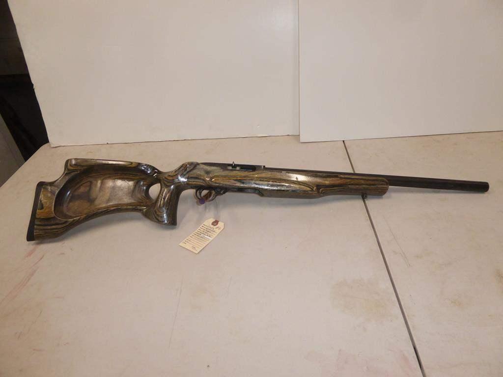 """Lot #8 - Ruger Semi Auto Rifle Model 10/22 Bull Barrel Cal 22LR Custom Stock S/N 23384895 - 38"""" Long (main image)"""