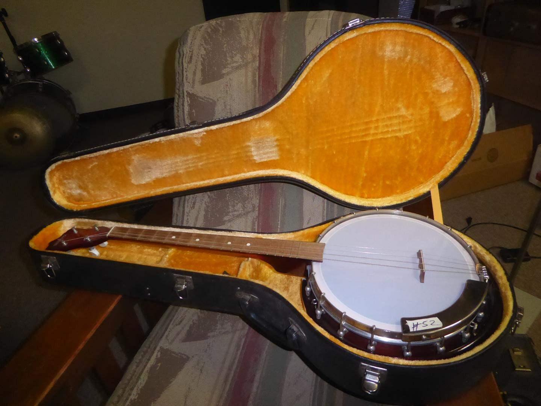 Lot # 52 - Silvetta Banjo, Case & Strings (main image)