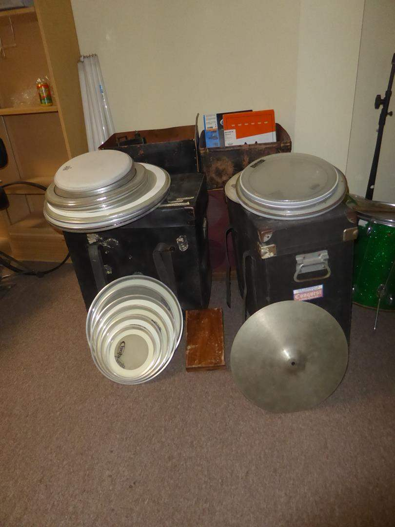Lot # 54 - Drum Heads, Cases & More (main image)