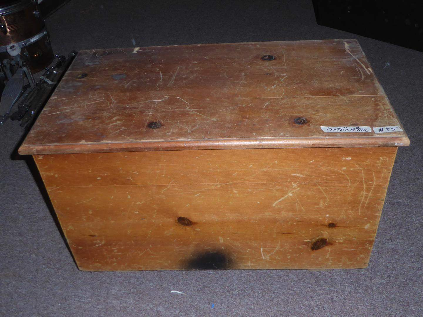 Lot # 55 - Solid Wood Compartment Storage Chest (main image)
