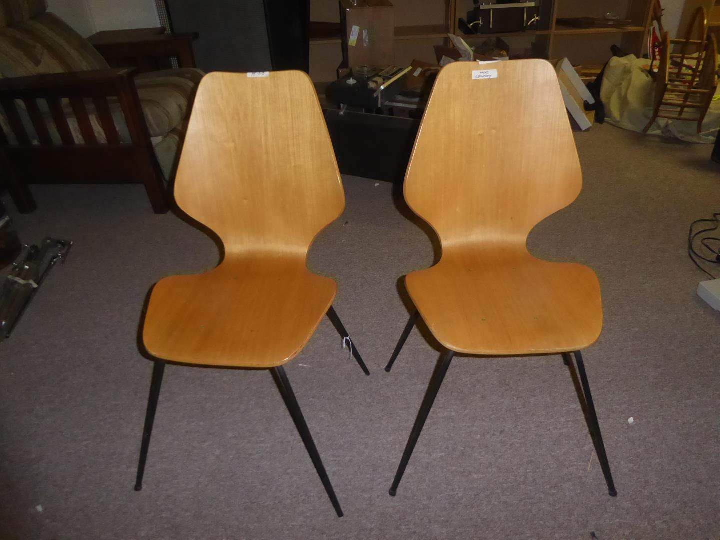 Lot # 58 - Pair Mid-Century Dining Chairs - Made in Denmark (main image)