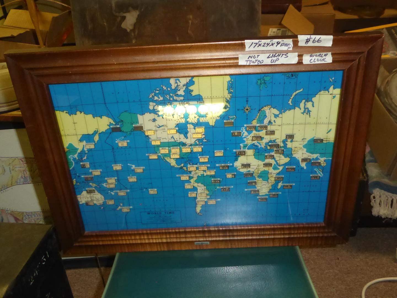 Lot # 66 - Vintage 'Howard Miller' World Time Clock (main image)