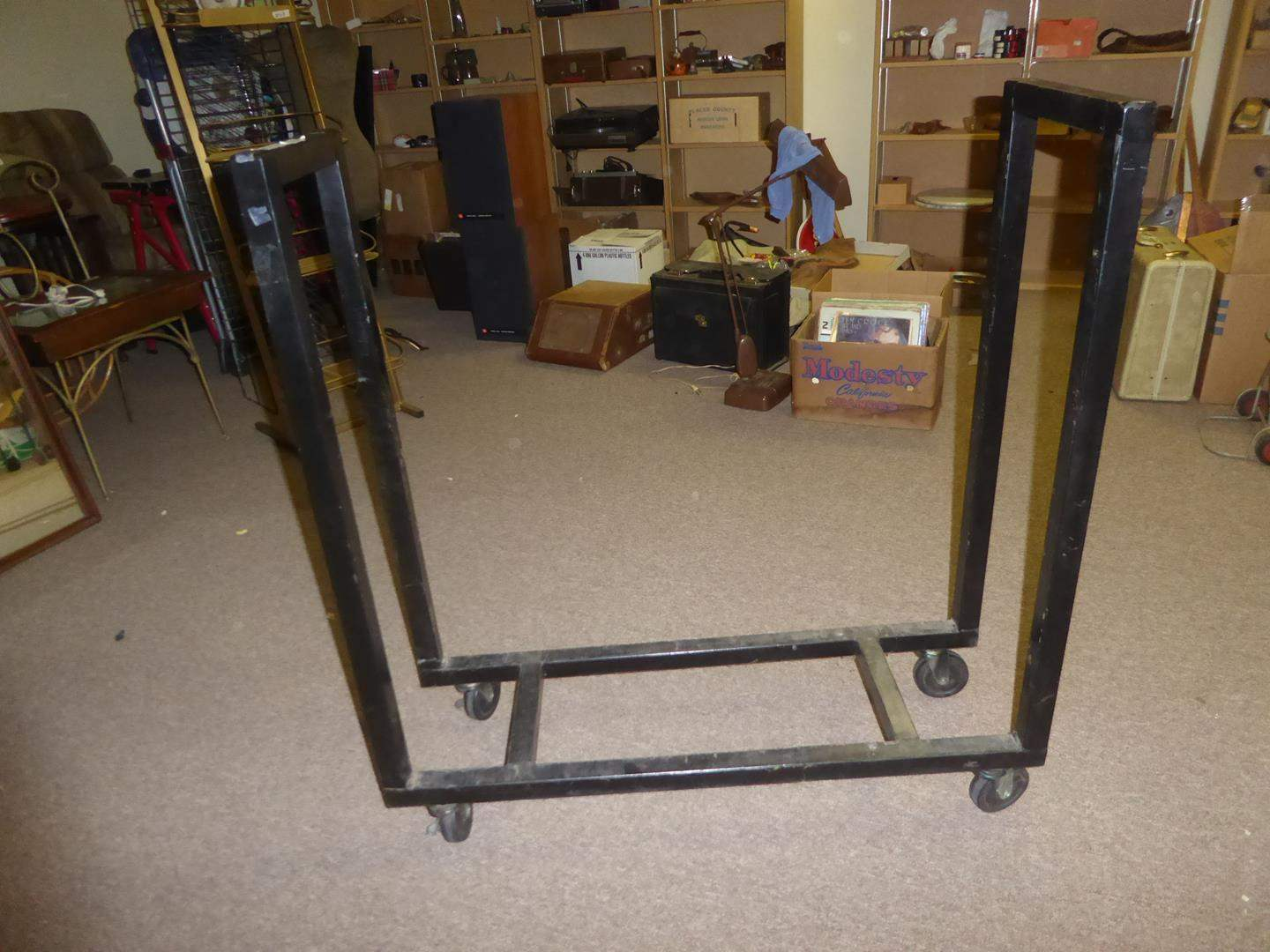 Lot # 73 - Metal Rolling Rack  (main image)