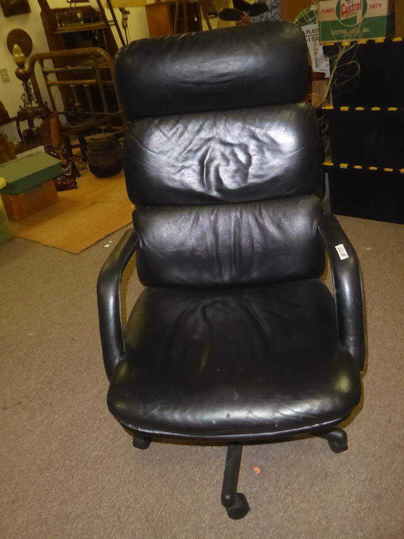 Lot # 77 - Black Office Chair (main image)