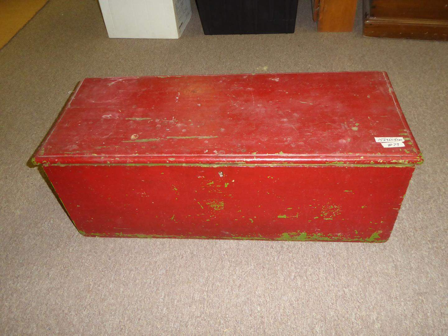 Lot # 79 - Antique Solid Wood Blanket Chest Circa 1810-1815 (main image)