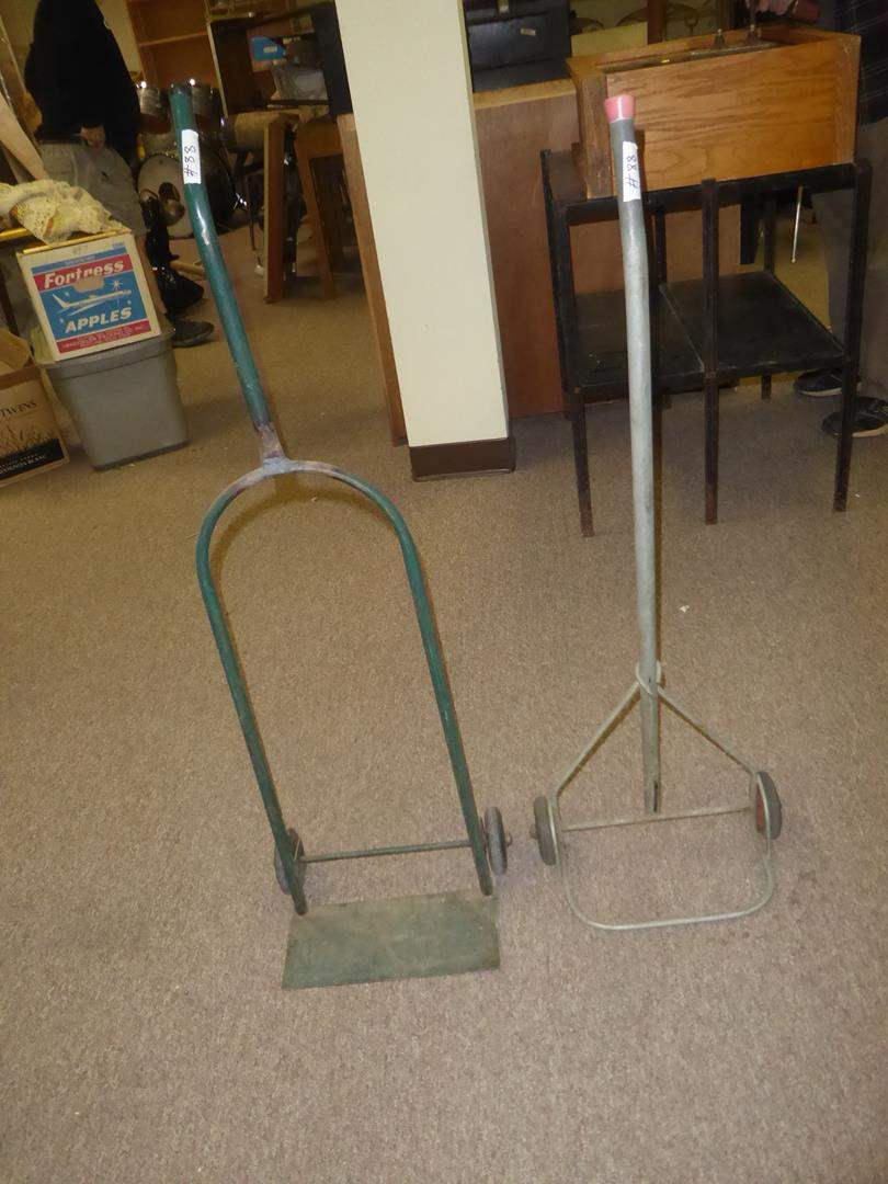 Lot # 88 - Two Small Vintage Hand Trucks (main image)