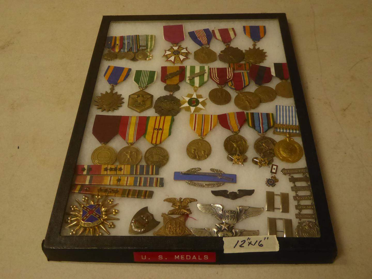 Lot # 94 - Vintage U.S. Military Ribbons & Medals Collection (main image)