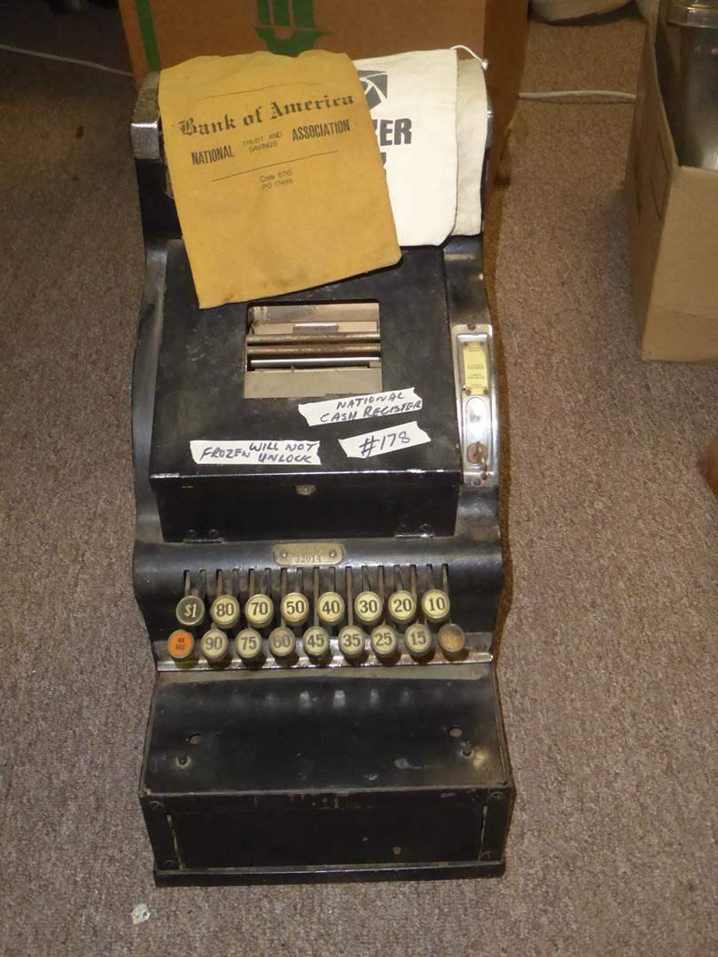 Lot # 178 - Vintage National Cash Register for Restoration (main image)