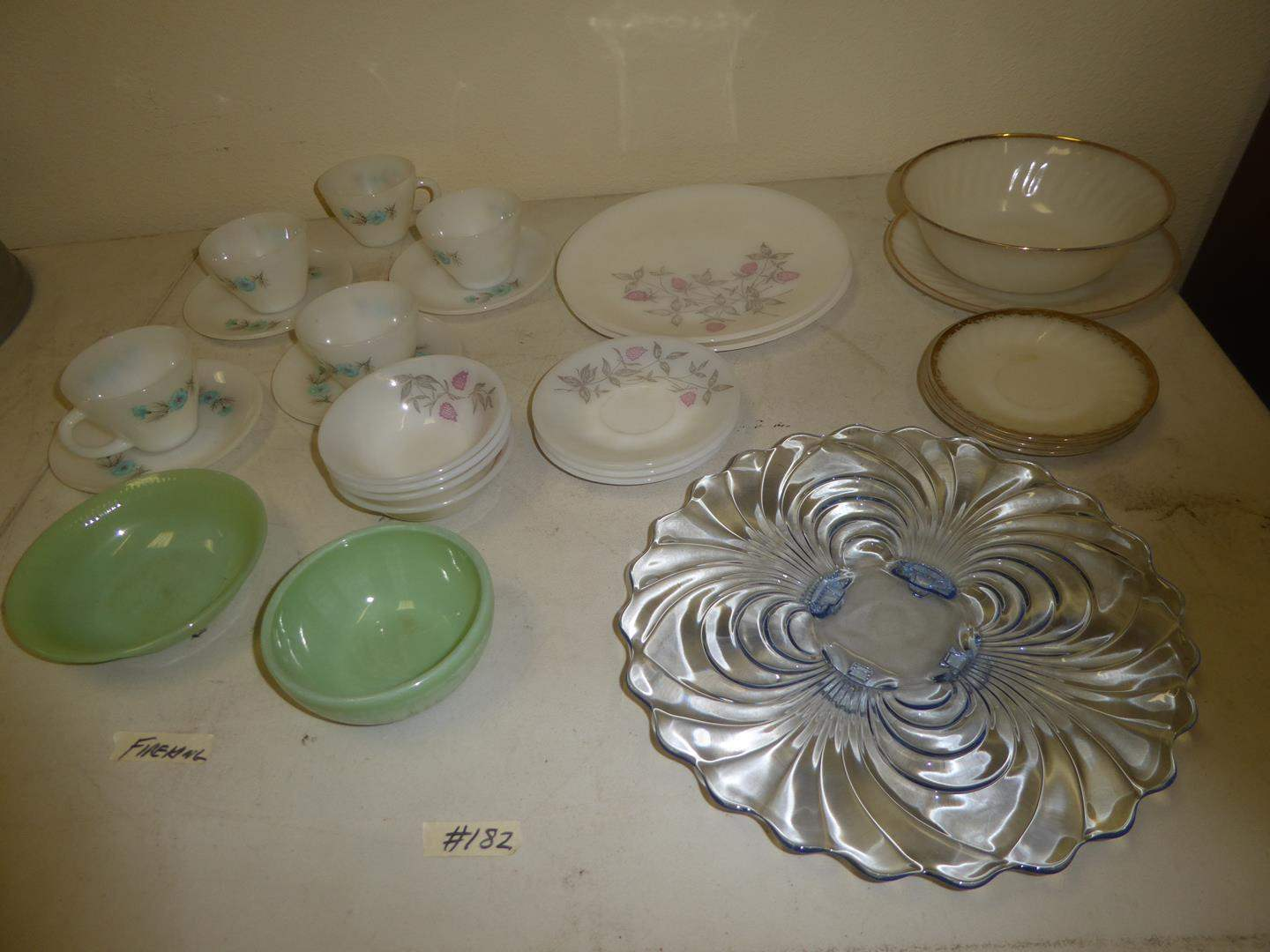 Lot # 182 - Fire King & Other Vintage Dishes (main image)