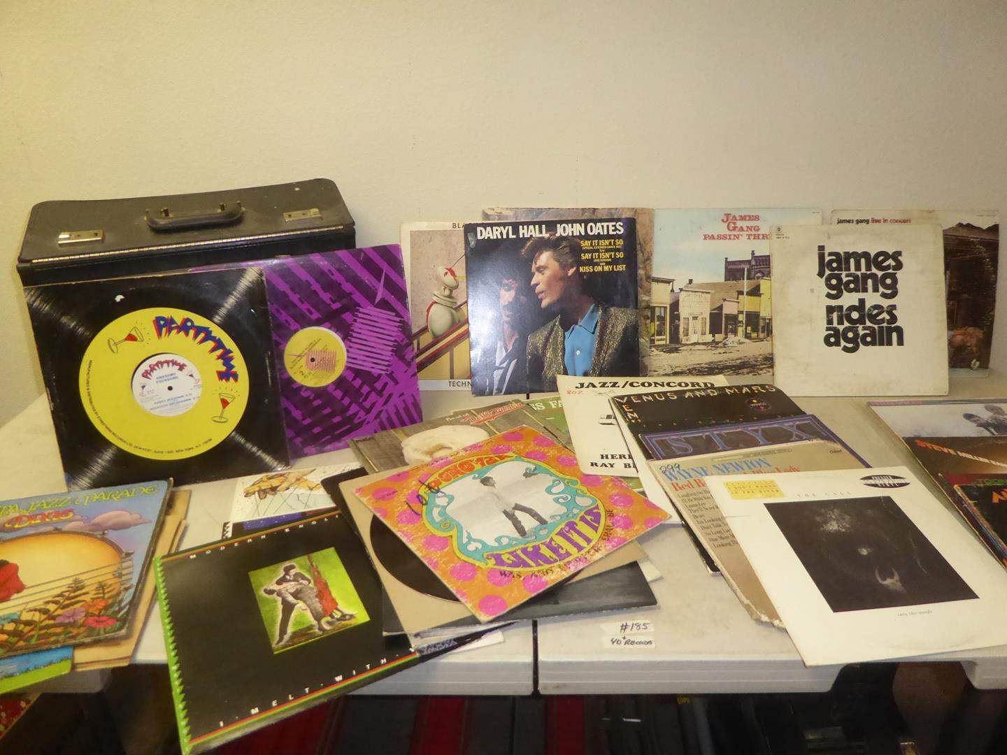Lot # 185 - 40+ Vinyl Records Collection & Carrying Case (main image)