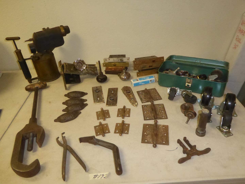 Lot # 192 - Vintage Torch, Vintage Hardware & Casters (main image)
