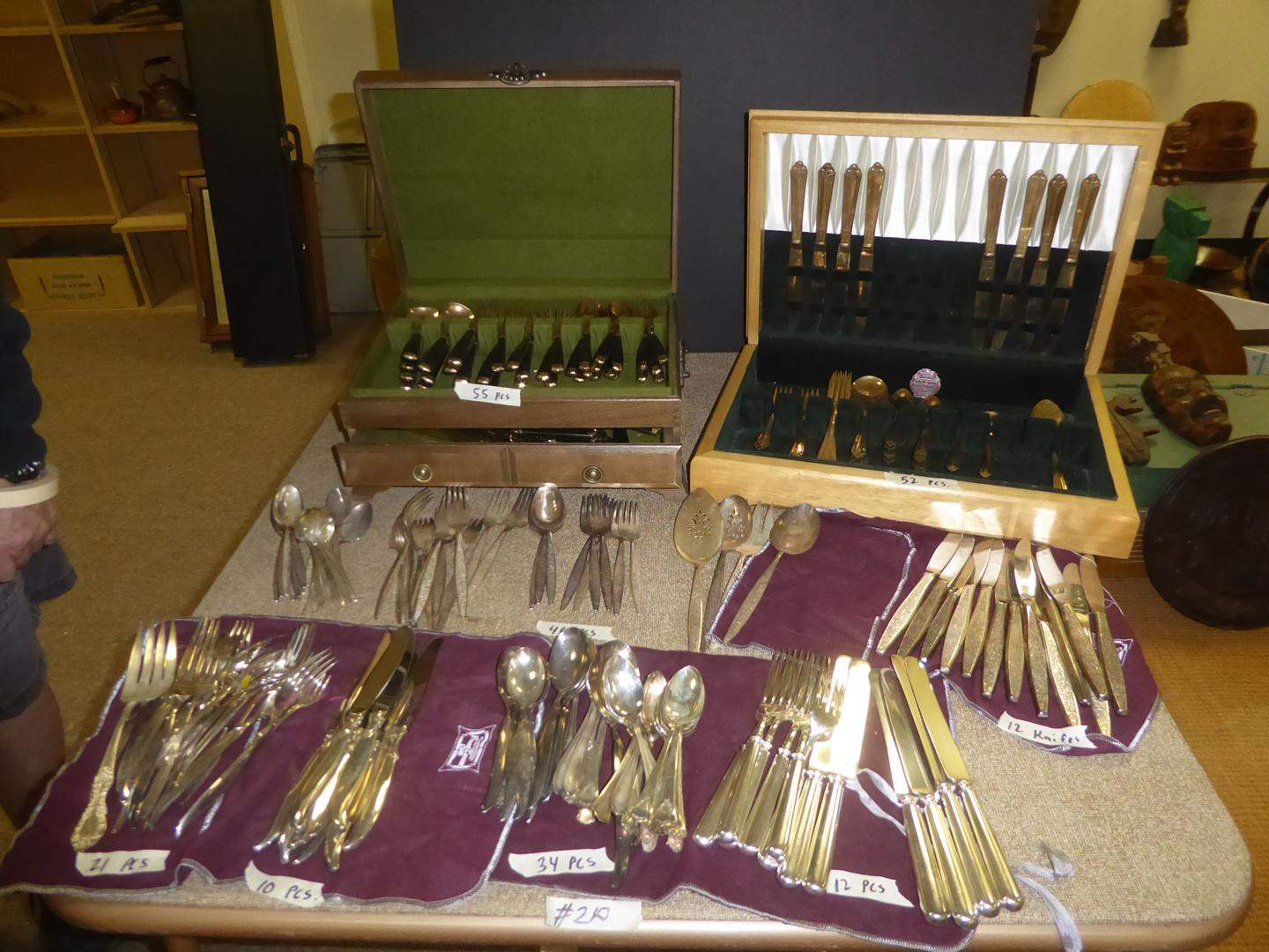 Lot # 210 - Assorted Vintage Flatware Silver Plated & Brass (main image)