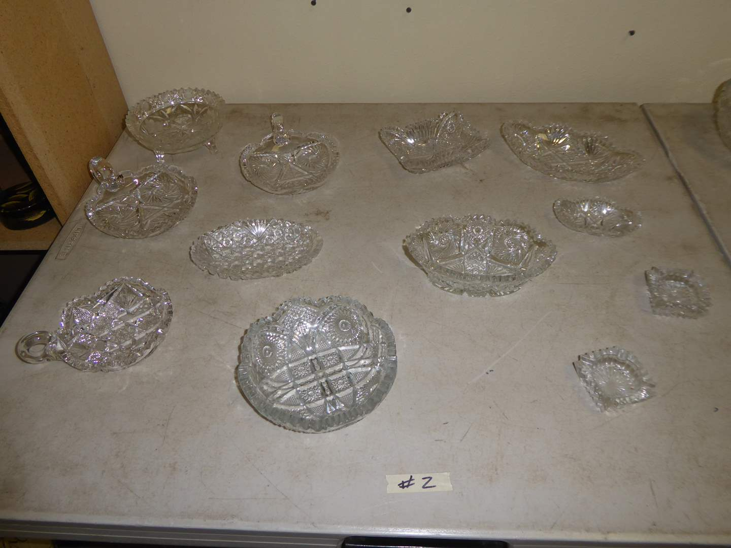 Lot # 2 - Cut Glass Serving Dishes  (main image)