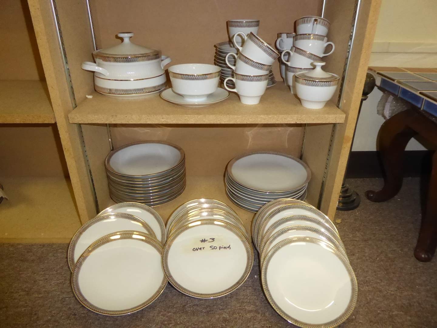 """Lot # 3 - Vintage """"Mitterteich"""" China (Over 50 PCS)  (main image)"""