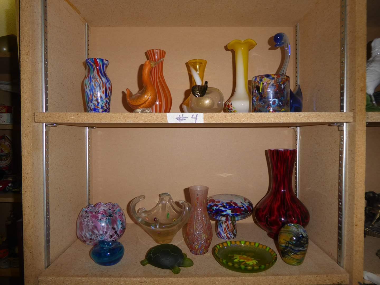 Lot # 4 - Lot Of Beautiful Art Glass (Vases & Figurines)  (main image)