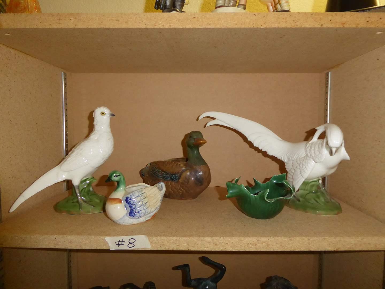 Lot # 8 - Ball Artware Ceramic Birds, Johannes Brahm Ceramic Bowl & Occupied Japan Planter Bird  (main image)