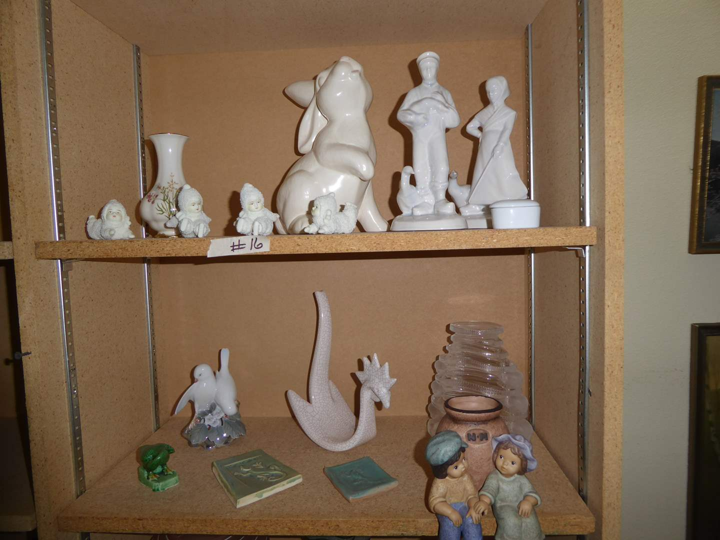 Lot # 16 - Lidner Vase, Snow Babies, Goebel Figurine & More   (main image)