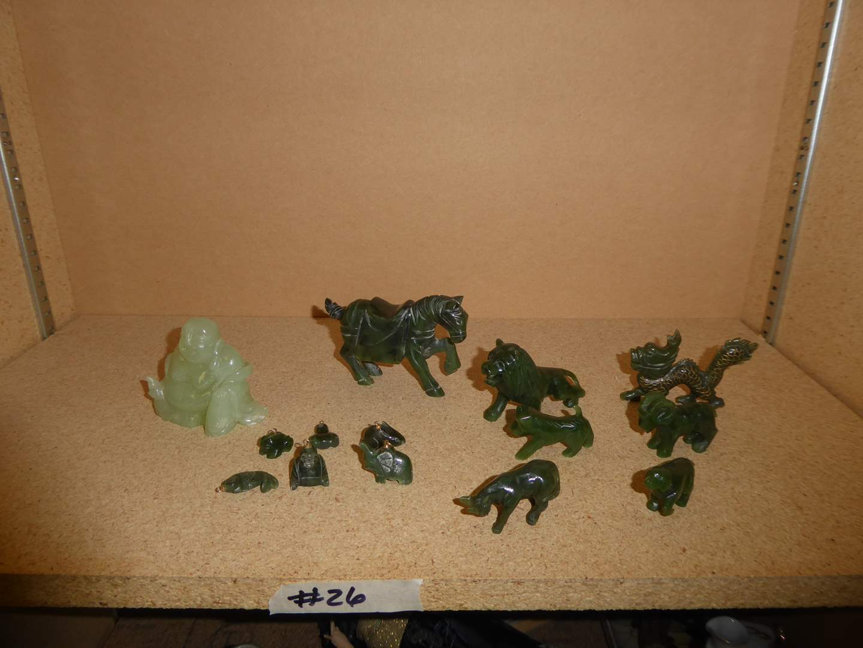 Lot # 26 - Jade Figurines & Charms  (main image)